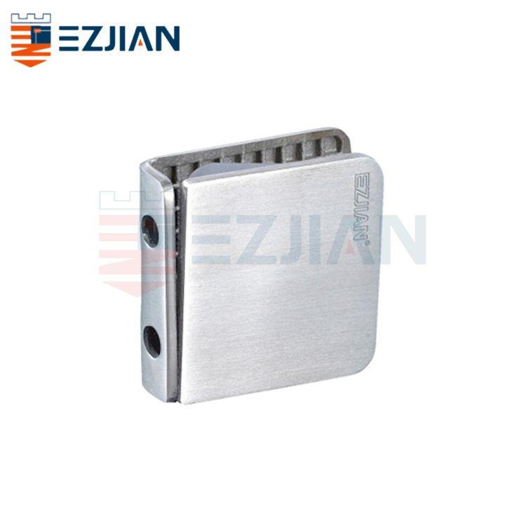 Glass Connector Fix clip 0° Double hole EJ-1063