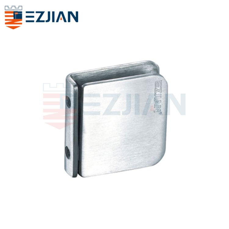 Glass Connector Fix clip 0° double hole EJ-1071D